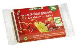 Aliments et Boissons: Barres de céréales germées : Cranberry/Raisin