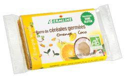 Aliments et Boissons: Barre de céréales germées : Orange - Coco