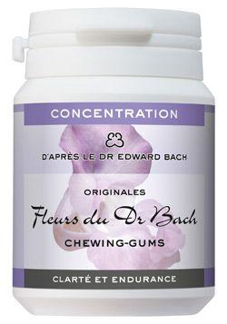 """Thérapies naturelles: Chewing-gums \""""Clarté et endurance\"""" (Concentration), Dr Bach"""