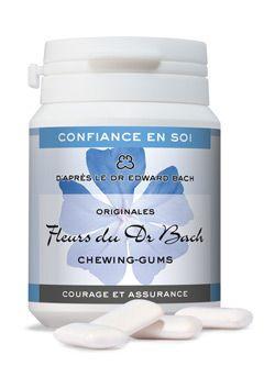 """Thérapies naturelles: Chewing-gums \""""Courage et assurance\"""" (confiance en soi), Dr Bach"""