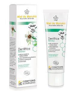 Beauté Hygiène: Dentifrice blancheur au miel de Manuka  IAA15+