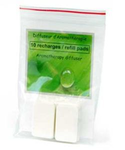 Thérapies naturelles: Lot de 10 tampons de rechange (diffuseur voiture)