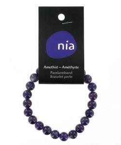Cadeaux Livres: Bracelet perle Améthyste
