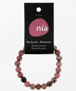 Cadeaux Livres: Bracelet perle - Rhodonite