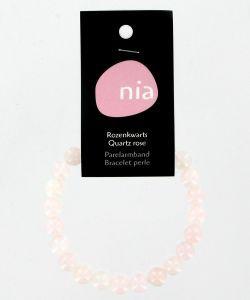 Cadeaux Livres: Bracelet perle - Quartz rose