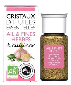 Bien-être Détente: Cristaux d\'Huiles Essentielles - Ail & Fines herbes