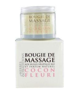 Bien-être Détente: Bougie de massage - Cocon fleuri