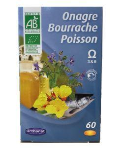 50 +: Onagre Bourrache Poisson - Omega 3 et 6