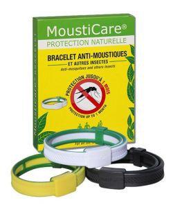 Bien-être Détente: Bracelet anti-moustiques - Blanc / vert