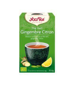 Aliments et Boissons: Thé Vert Gingembre Citron - Infusion ayurvédique