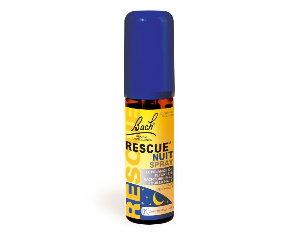 Rescue Nuit Spray Rescue Fleurs De Bach Original 20 Ml