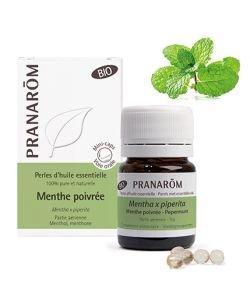 Menthe poivrée - Perles d'huile essentielle BIO, 60capsules