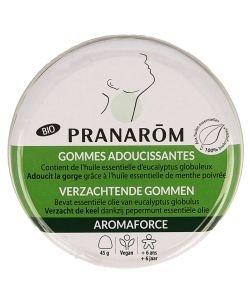 Aromaforce - Gommes adoucissantes Eucalpytus Menthe poivrée BIO, 45g