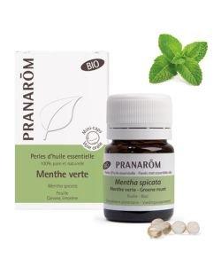 Menthe verte - Perles d'huile essentielle BIO, 60perles