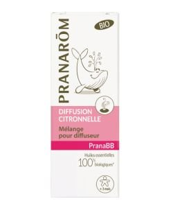 PranaBB - Diffusion citronnelle - sans emballage BIO, 10ml