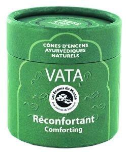 Vata - Réconfortant - Cônes d'encens Ayurvédiques naturels, 15cônes