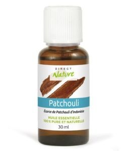 Patchouli (Pogostemon cablin) - Huile essentielle pure naturelle, 30ml