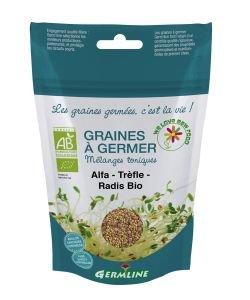 Graines à germer - Alfafa - trèfle - radis  BIO, 150g