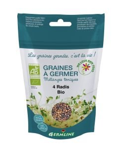 Graines à germer - 4 Radis BIO, 100g