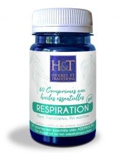 Respiration comprimés aux huiles essentielles BIO, 60comprimés