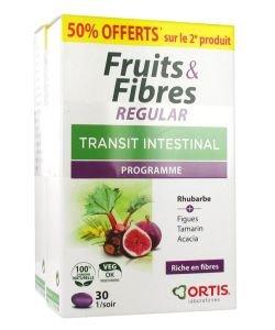 Fruits & Fibres regular - Transit intestinal PROMOPACK -50% sur 2ème boite, 2x30comprimés