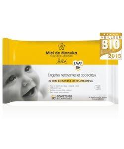 Lingettes bébé au miel de Manuka IAA10+