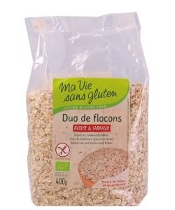Duo Flocons Avoine & Sarrasin BIO, 400 g
