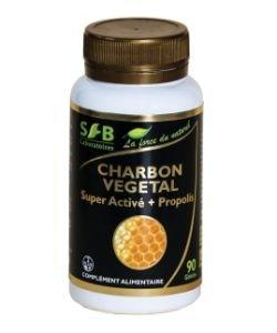 Charbon végétal super activé + propolis verte (240 mg), 90gélules