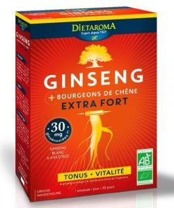 Ginseng extra fort BIO, 20 ampoules