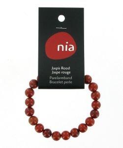 Pearl bracelet - Red Jasper, part