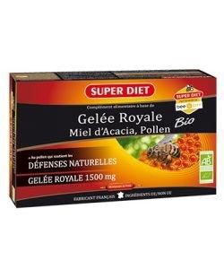 Gelée royale, Miel d'acacia, Pollen BIO, 20ampoules