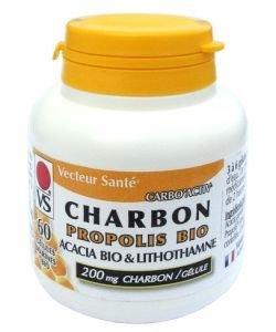 Carbo'Activ - Charbon + propolis bio, 60gélules