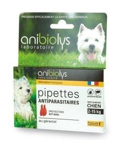 Pipettes antiparasitaires - Petit et moyen chien, 2pièces