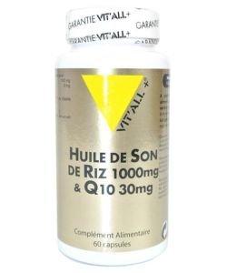 Huile de son de riz 1000 mg + Q10, 60capsules