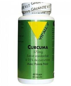 Curcuma 570 mg - avec Poivre noir, 60gélules