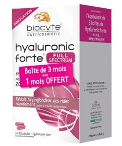 Pack Hyaluronic Forte Full spectrum 200 mg, 90 gélules