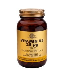 25 mcg vitamin D3 (1000 IU)