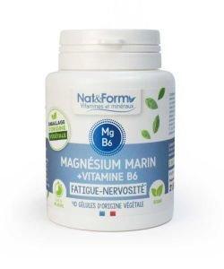 Marine Magnesium + Vitamin B6, 80capsules