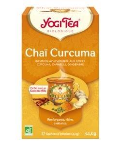 Chaï Curcuma- Infusion Ayurvédique BIO, 17sachets