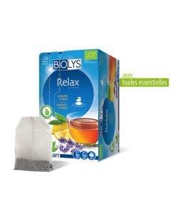 Tisane Relax (lavande citron) BIO, 24sachets