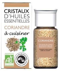 Cristaux d'Huiles Essentielles - Coriandre BIO, 10g