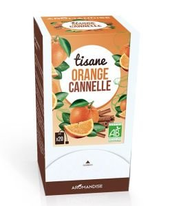 Tisane Orange Cannelle BIO, 20 sachets