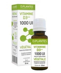 Vitamine D3++ 1000 UI Végétale, 20ml