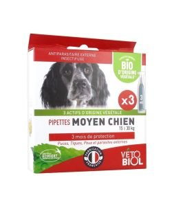 Pipettes antiparasitaires - Chien moyen