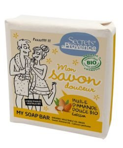 Mon savon douceur à l'huile d'amande douce BIO, 100g