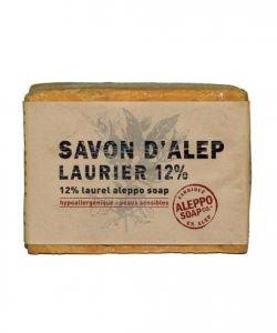 Savon d'Alep Laurier 12% - Peaux sensibles, 200g