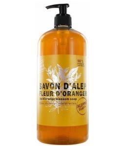 Savon d'Alep Liquide Fleur d'Oranger - peaux sèches et intolérantes, 500ml