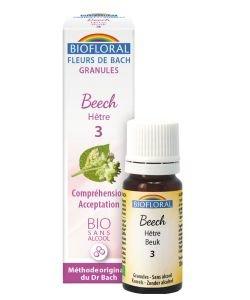 Hêtre - Beech (n°3), granules sans alcool BIO, 10ml