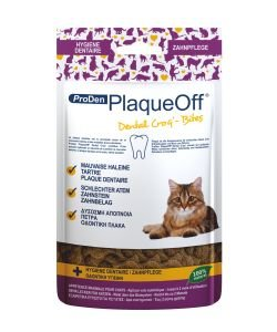 PlaqueOff Dental Croq' - Chat, 60 g