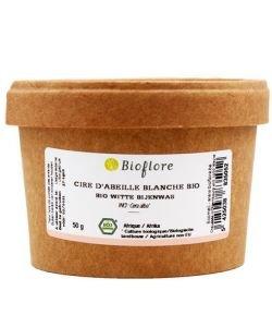 Cire d'abeille blanche (pastilles) BIO, 50g